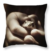 Little Toad Throw Pillow