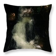 Llangollen And Maelor Country Waterfalls Throw Pillow