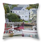 Lobster Fishing Boats Throw Pillow