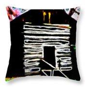 Log Cabin Home Throw Pillow