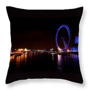 River Thames - London Throw Pillow