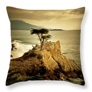 Lone Cypress Detail 2 Throw Pillow
