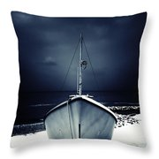 Loneliness Throw Pillow by Stelios Kleanthous