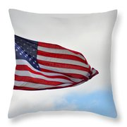 Long May You Wave Throw Pillow