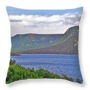 Long Range Mountains In Western Nl Throw Pillow