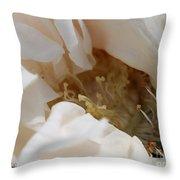 Long-stemmed White Rose Throw Pillow