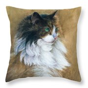 Longhaired Throw Pillow