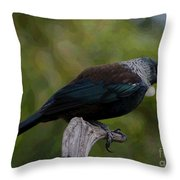 Lonley In A Big Forest Throw Pillow
