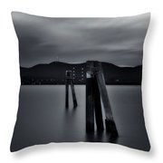 Looking Across The Hudson  Throw Pillow