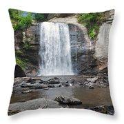 Looking Glass Falls North Carolina Throw Pillow