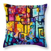 Lost Papers And Urban Plans Throw Pillow