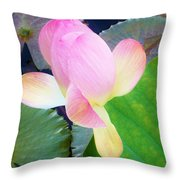 Lotus Lilly Throw Pillow