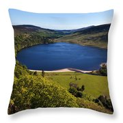 Lough Tay Below Luggala Mountain Throw Pillow
