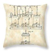Louis Pasteur Beer Brewing Patent 1873 - Vintage Throw Pillow