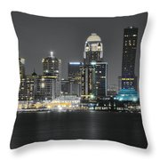 Night Lights Of Louisville Throw Pillow