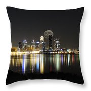 Louisville With The Moon Throw Pillow