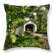 Loux Covered Bridge Throw Pillow