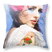 Love Heart And Arrow Tattoo Throw Pillow
