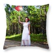 Love Heart Balloons  Throw Pillow