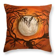 Love Under The Moon Throw Pillow