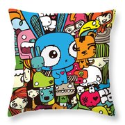 Lovely Stack Color Throw Pillow