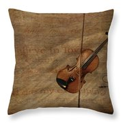 Lovesong Throw Pillow