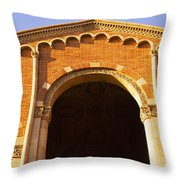 Low Angle View Of Royce Hall Throw Pillow