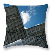 Low Angle View Of Solar Panels Throw Pillow