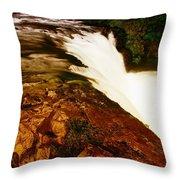 Lower Punchbowl Falls Throw Pillow