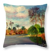 Loxahatchee Nature Preserve Throw Pillow