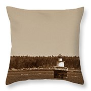 Lubec Channel Lighthouse Throw Pillow