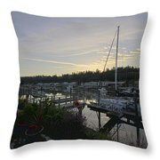 Lucy's Home Port Throw Pillow