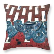 Lug Nuts On Grate Vertical Throw Pillow