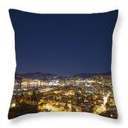 Lugano By Night Throw Pillow