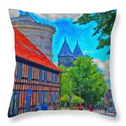 Lund Street Scene Throw Pillow