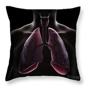 Lung Anatomy Throw Pillow