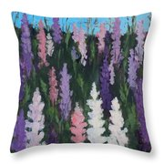 Lupines - Art By Bill Tomsa Throw Pillow