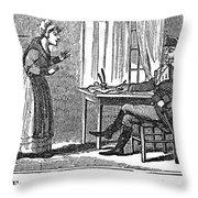 Lydia Darrah, 1777 Throw Pillow