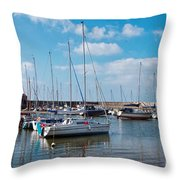 Lyme Regis Harbour 2 Throw Pillow
