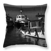 Lynmouth Harbour In Devon Throw Pillow