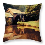 Mabrys Mill Throw Pillow by Darren Fisher