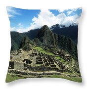 Machu Picchu Panorama Throw Pillow