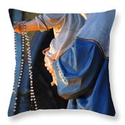 Madonna And Jesus Throw Pillow