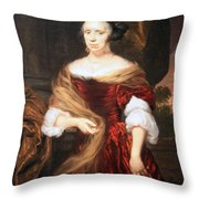 Mae's Portrait Of A Lady Throw Pillow