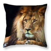 Magnificent Lion Throw Pillow