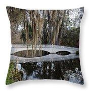 Magnolia Plantation Throw Pillow