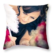 Maid Of Honour Signing Wedding Registar Throw Pillow