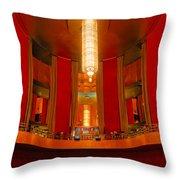 Main Lobby Radio City Music Hall Throw Pillow