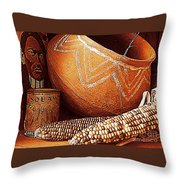 New Orleans Maize The Indian Corn Still Life In Louisiana  Throw Pillow
