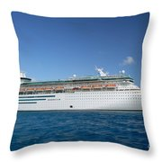 Majesty Of The Seas At Coco Cay Throw Pillow